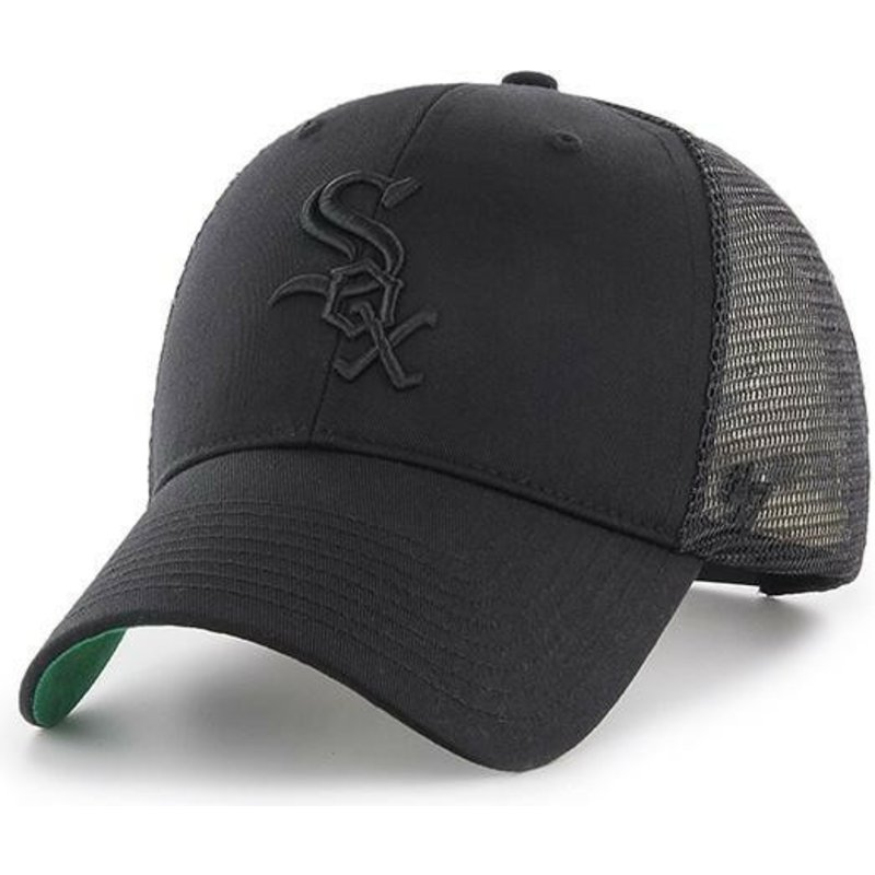47-brand-black-logo-chicago-white-sox-mlb-mvp-branson-black-trucker-hat