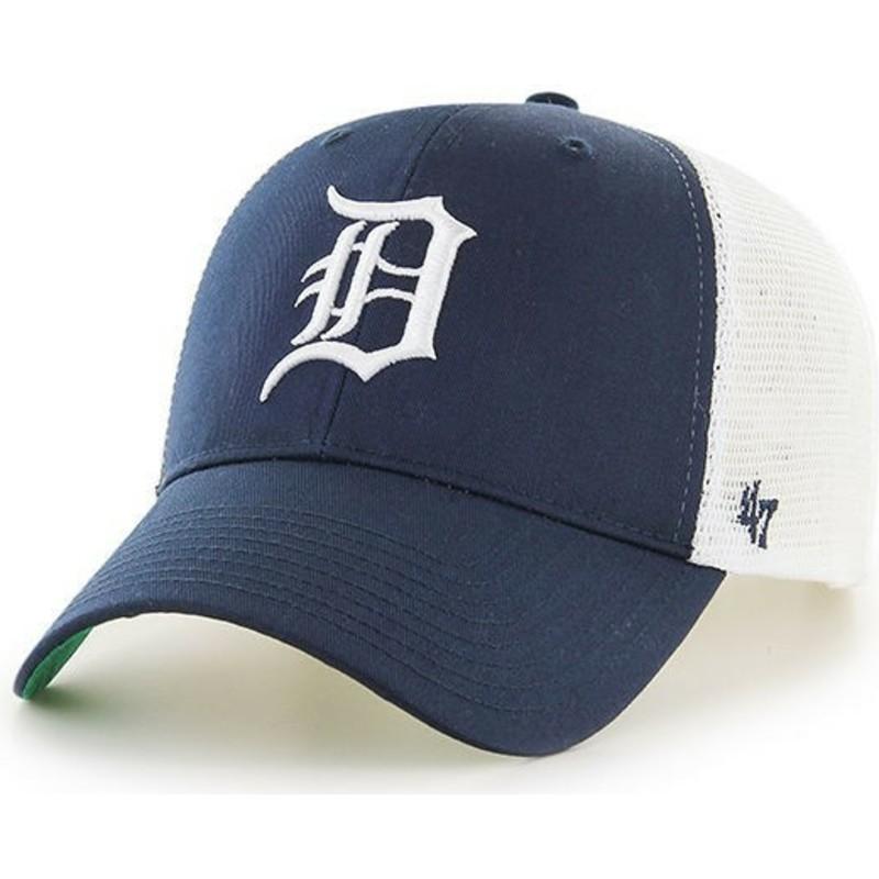 3d6f2664aba 47 Brand Detroit Tigers MLB MVP Branson Navy Blue Trucker Hat  Shop ...