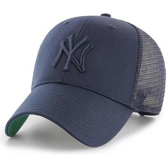 47 Brand Navy Blue Logo New York Yankees MLB MVP Branson Navy Blue Trucker Hat