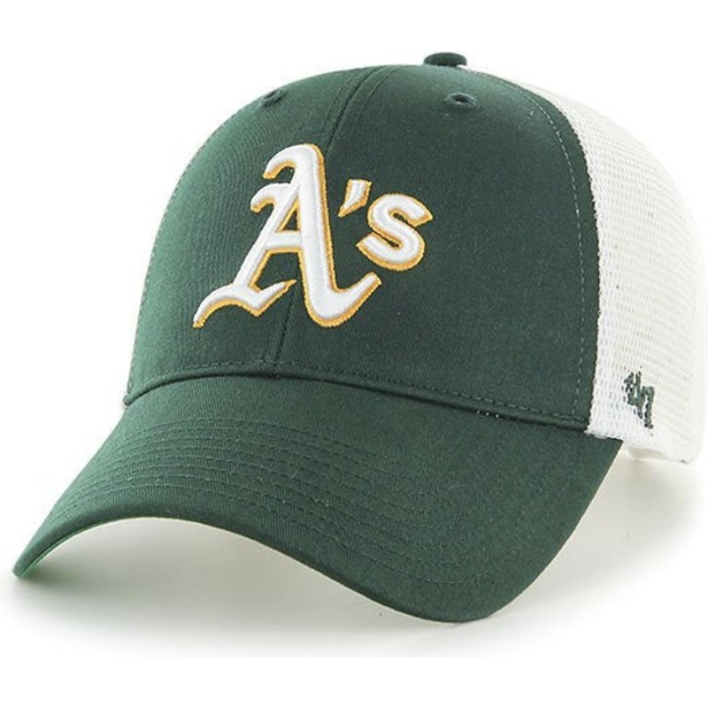 47 Brand Oakland Athletics MLB MVP Branson Green Trucker Hat  Shop ... d0c5e852ca4