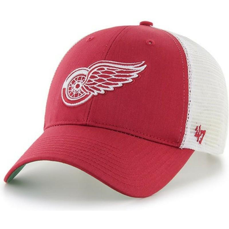 67322e9b38 47 Brand Detroit Red Wings NHL MVP Branson Red Trucker Hat  Shop ...