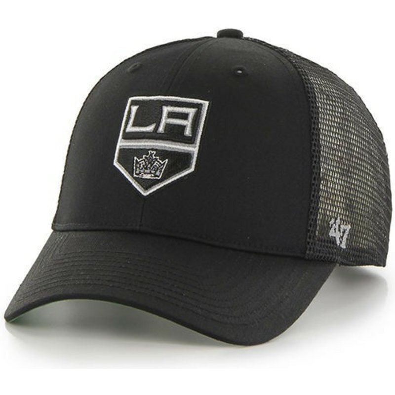 47 Brand Los Angeles Kings NHL MVP Branson Black Trucker Hat  Shop ... 40060e19a03