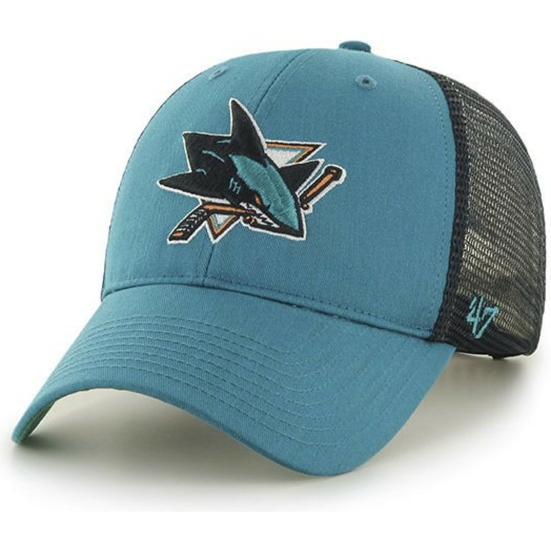 47 Brand San Jose Sharks NHL MVP Branson Green Trucker Hat  Shop ... 299efa1b526e