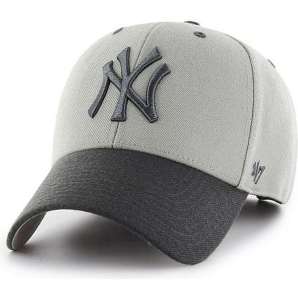 47-brand-curved-brim-new-york-yankees-mlb-mvp-audible-2-tone-grey-cap