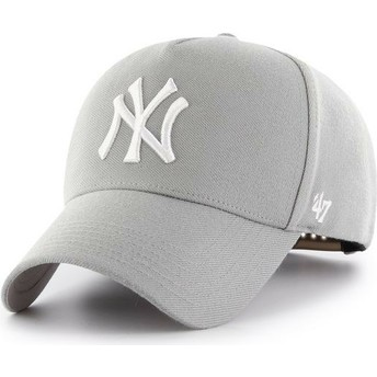 47 Brand Curved Brim New York Yankees MLB MVP Grey Snapback Cap