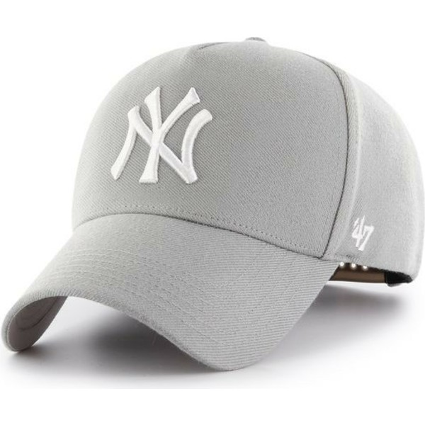 47-brand-curved-brim-new-york-yankees-mlb-mvp-grey-snapback-cap