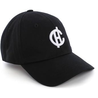 Caphunters Curved Brim CH Logo Aspen Black Cap