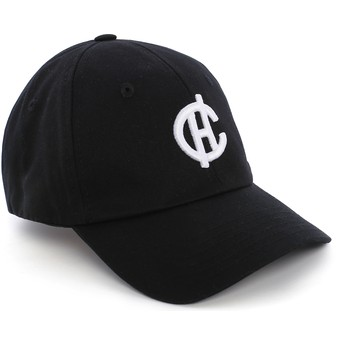 Gorra curva negra Aspen con logo CH de Caphunters