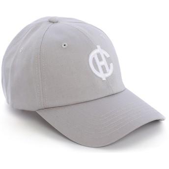 Gorra curva gris Aspen con logo CH de Caphunters