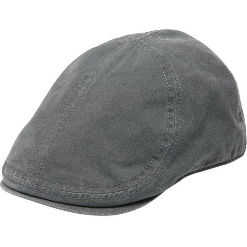 Goorin Bros. Ari Grey Flat Cap  Shop Online at Caphunters 17ff81468b4