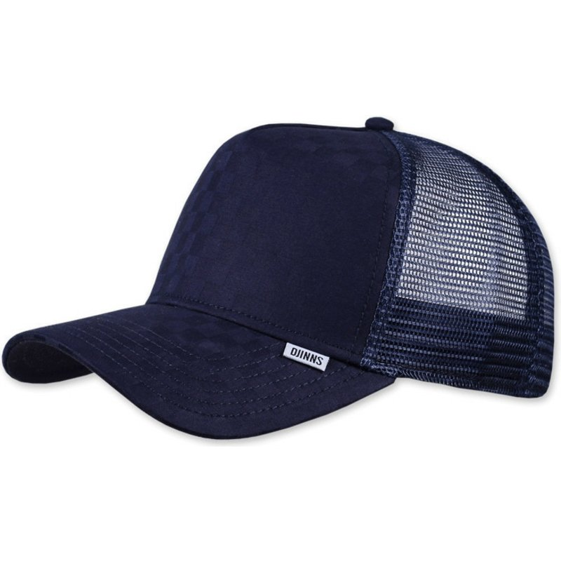 djinns-tie-check-navy-blue-trucker-hat