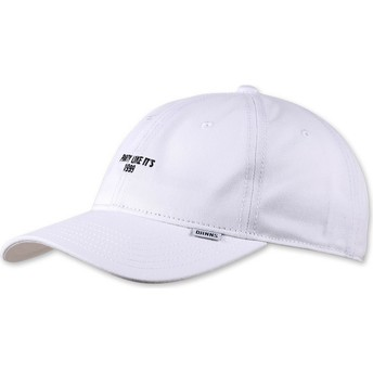 Djinns Curved Brim Texting Party Like It's 1999 White Adjustable Cap