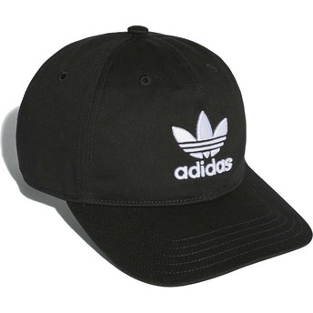 Adidas Curved Brim Trefoil Classic Black Adjustable Cap