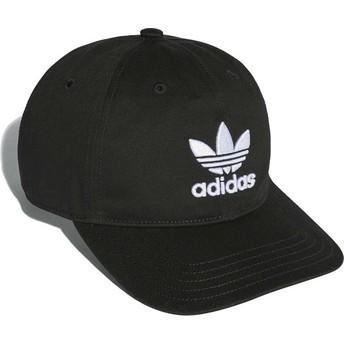 Adidas Curved Brim Trefoil Classic Black Adjustable Cap