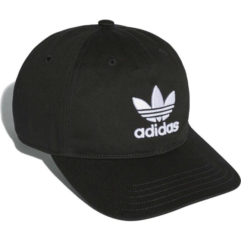 best cheap 9c988 30e33 adidas-curved-brim-trefoil-classic-black-adjustable-cap