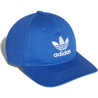 Adidas Curved Brim Trefoil Classic Blue Adjustable Cap