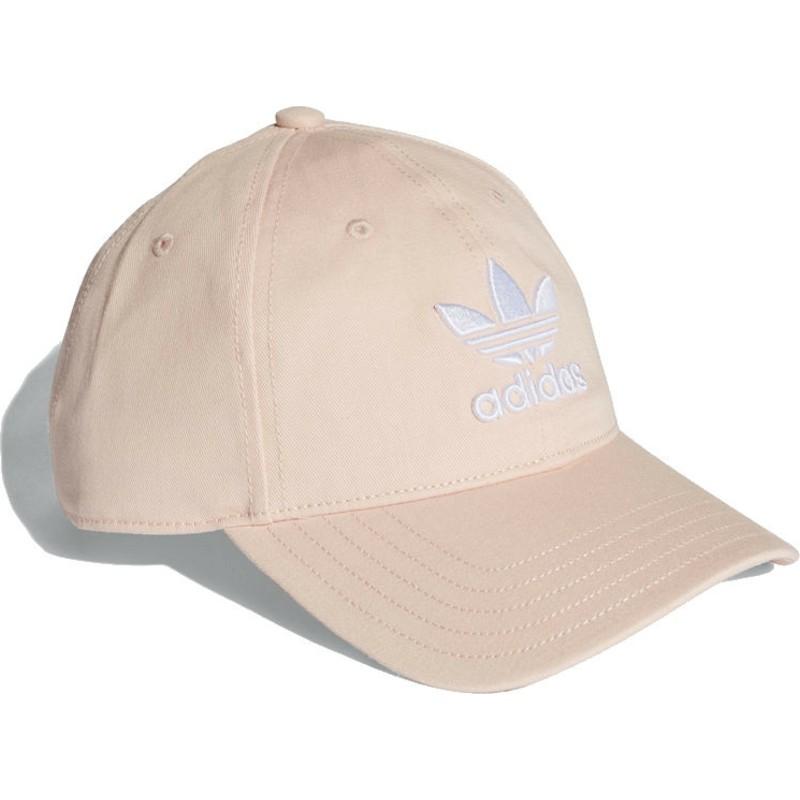 Adidas Curved Brim Trefoil Classic Pink Adjustable Cap  Shop Online ... 0b7f037ff7b