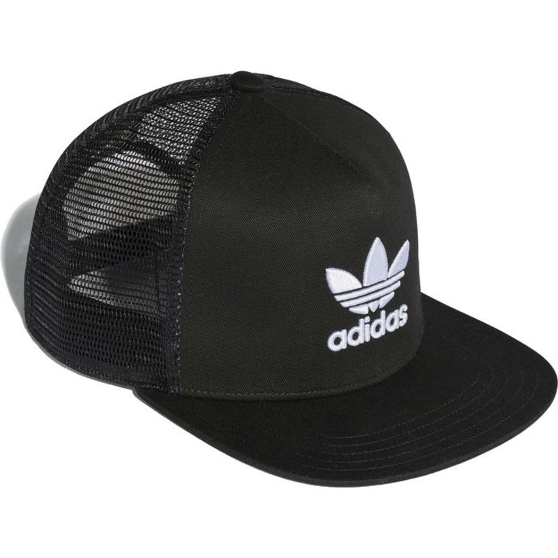 Adidas Trefoil Black Trucker Hat  Shop Online at Caphunters e23cf2ac89e