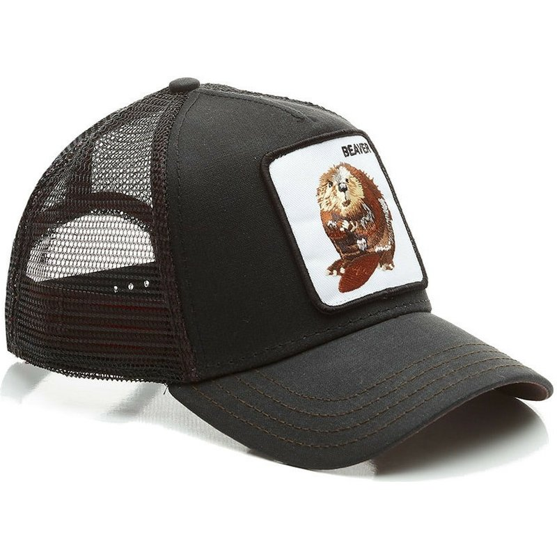Goorin Bros. Beaver Waxed Black Trucker Hat  Shop Online at Caphunters 6f8f985144a