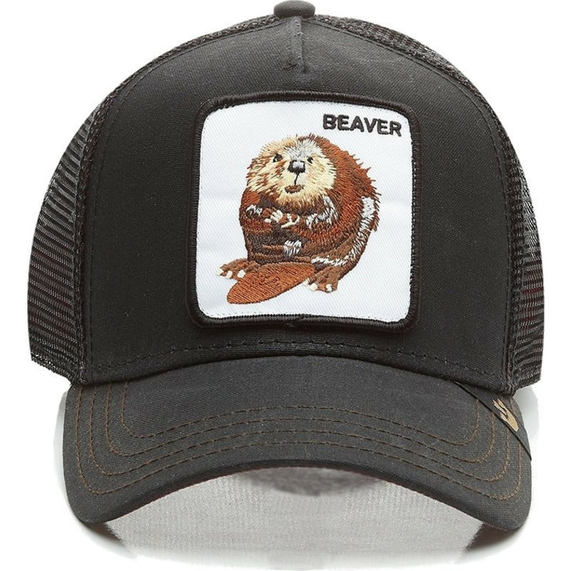 Super Goorin Bros. Beaver Waxed Black Trucker Hat  Shop Online at  Caphunters KB94 e54181139a6