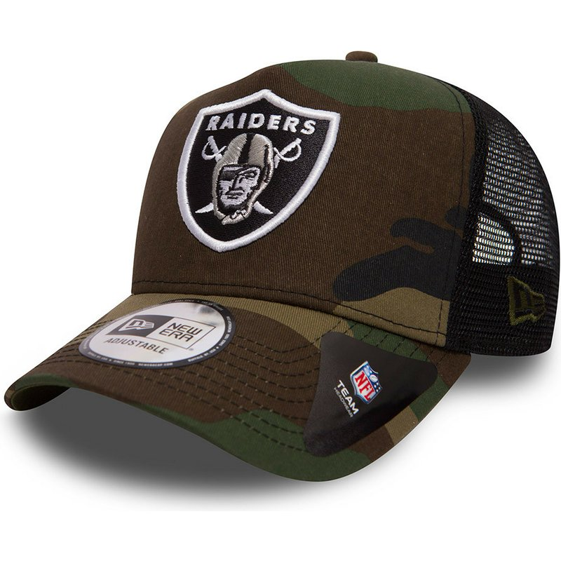New Era Team A Frame Oakland Raiders NFL Camouflage Trucker Hat ... feee844a8a7