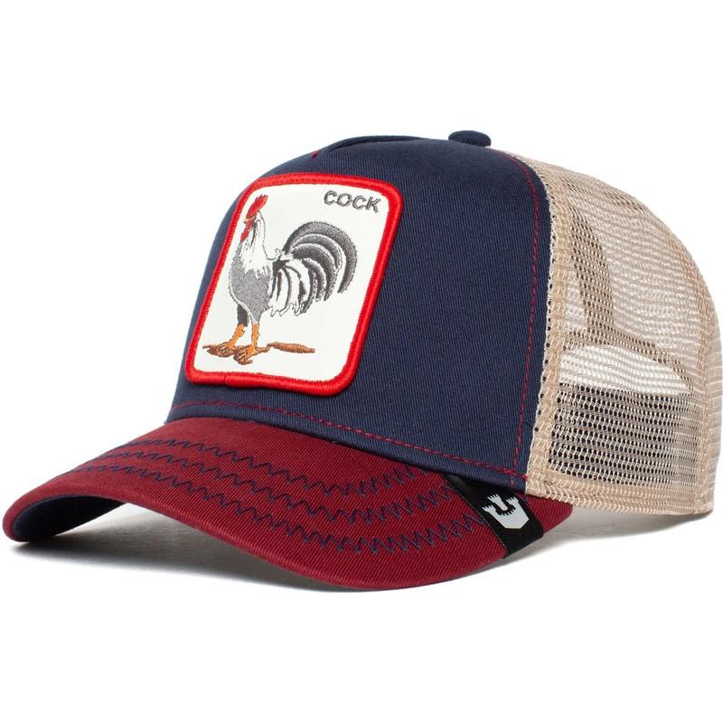 Goorin Bros  All American Rooster Navy Blue Trucker Hat