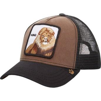 Gorra trucker marrón león King de Goorin Bros.