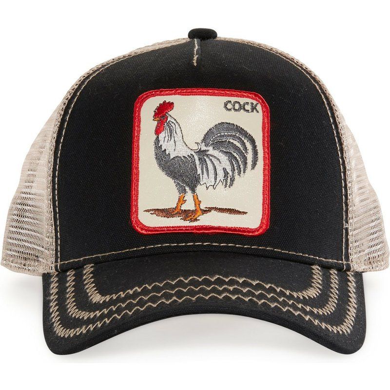 Goorin Bros. Rooster Black Trucker Hat  Shop Online at Caphunters 4d52fe15b694