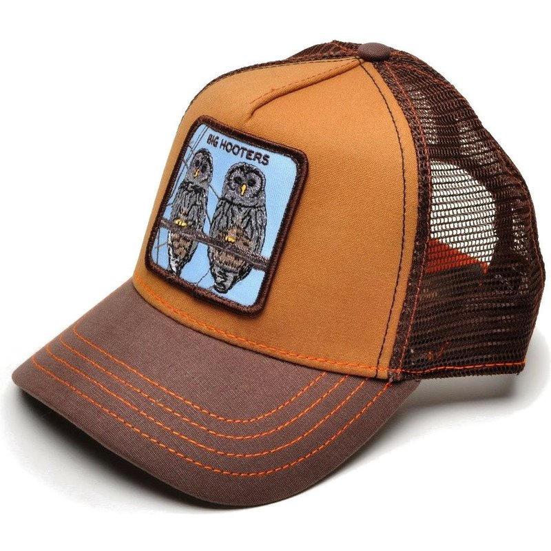 goorin-bros-owls-hooters-brown-trucker-hat