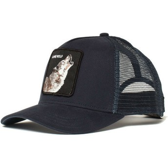 Goorin Bros. Wolf Navy Blue Trucker Hat