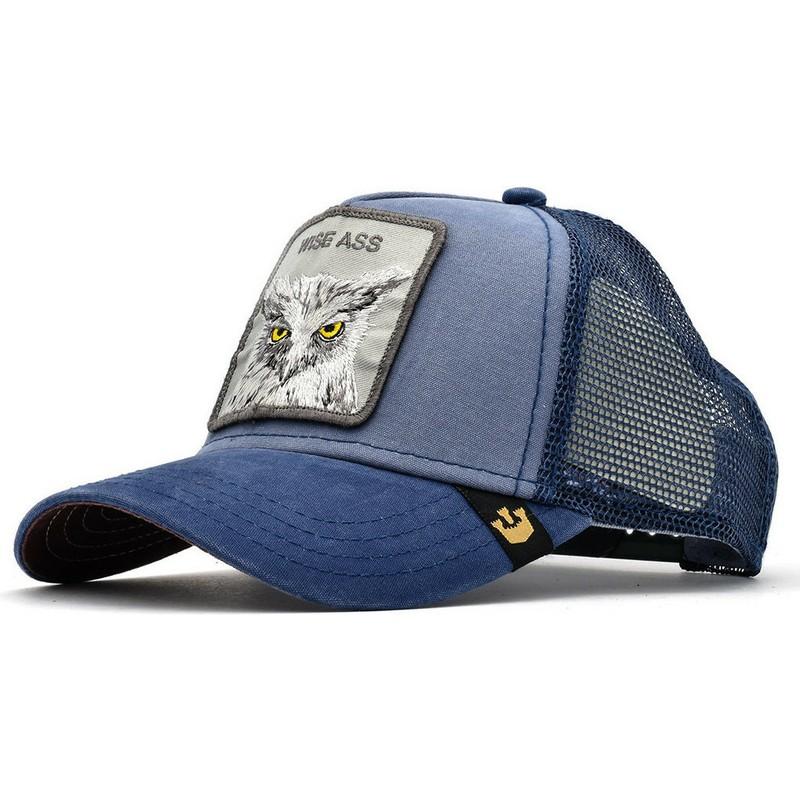 3ff15d4003de0 Goorin Bros. Owl Smarty Pants Blue Trucker Hat  Shop Online at ...