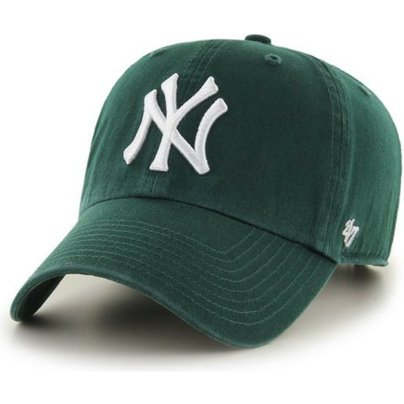 47-brand-curved-brim-new-york-yankees-clean-up-green-cap
