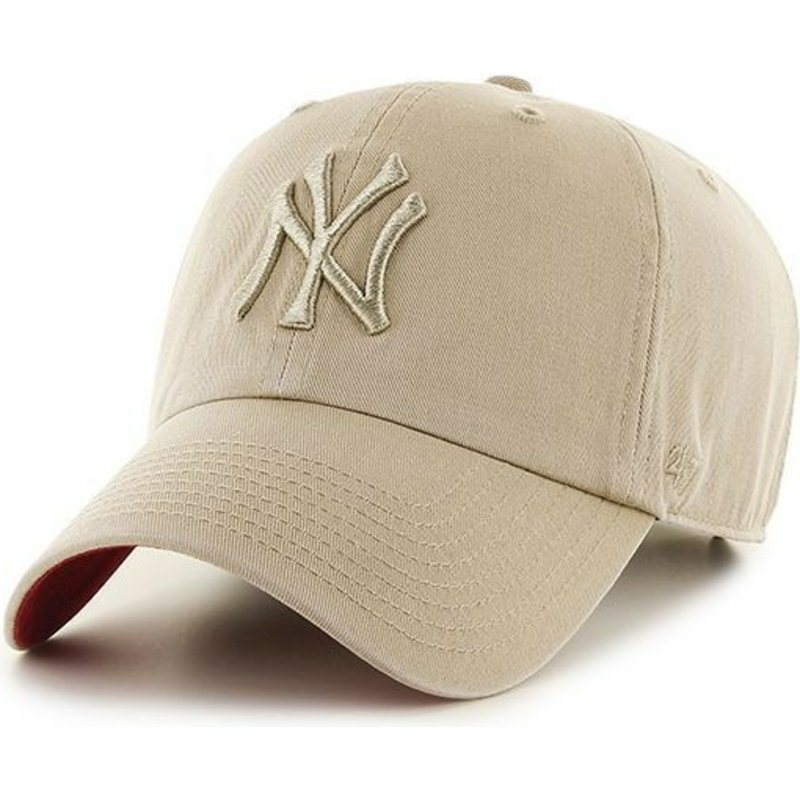 47-brand-curved-brim-beige-logo-new-york-yankees-mlb-clean-up-beige-cap