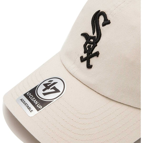 47-brand-curved-brim-chicago-white-sox-mlb-clean-up-cream-cap