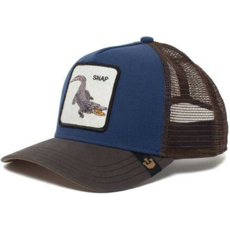 Goorin Bros Crocodile Snap At Ya Blue Trucker Hat Shop
