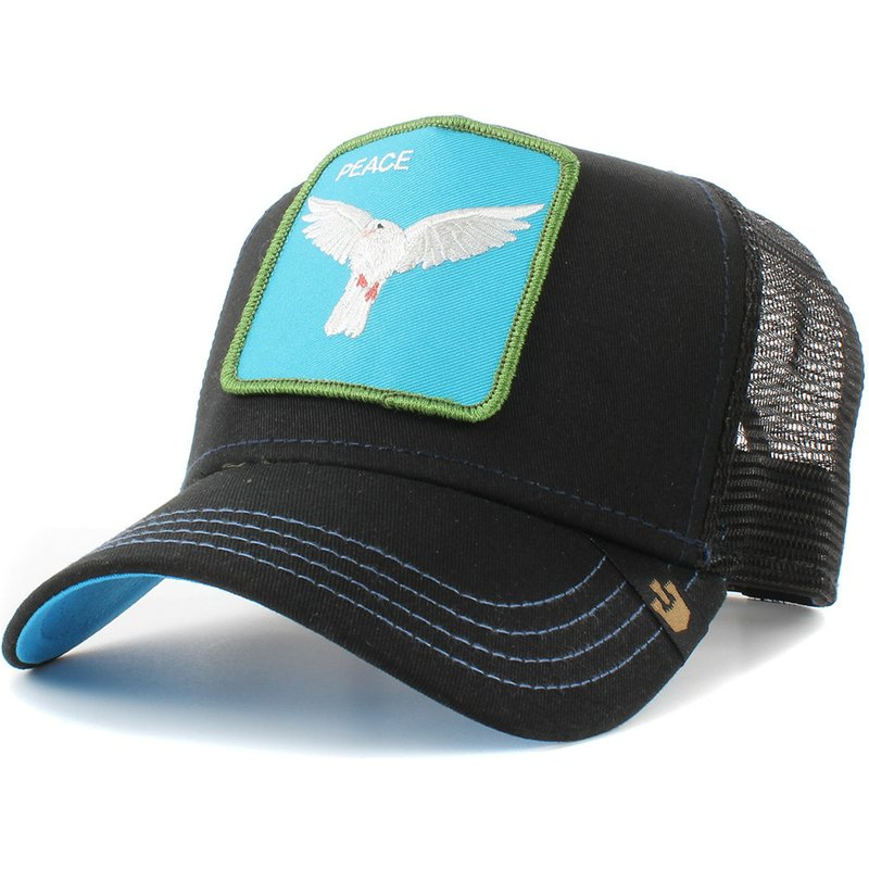 newest edc79 cfc3a goorin-bros-dove-peace-keeper-black-trucker-hat