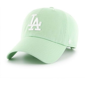 47 Brand Curved Brim Los Angeles Dodgers MLB Clean Up Light Green Cap