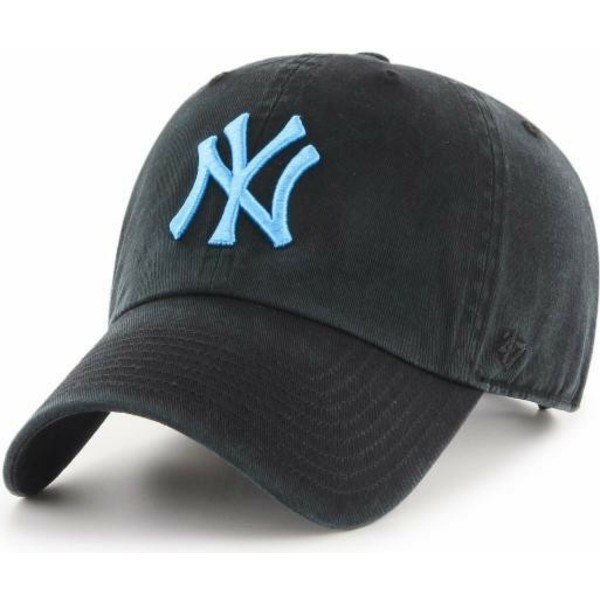 47-brand-curved-brim-blue-logo-new-york-yankees-mlb-clean-up-black-cap