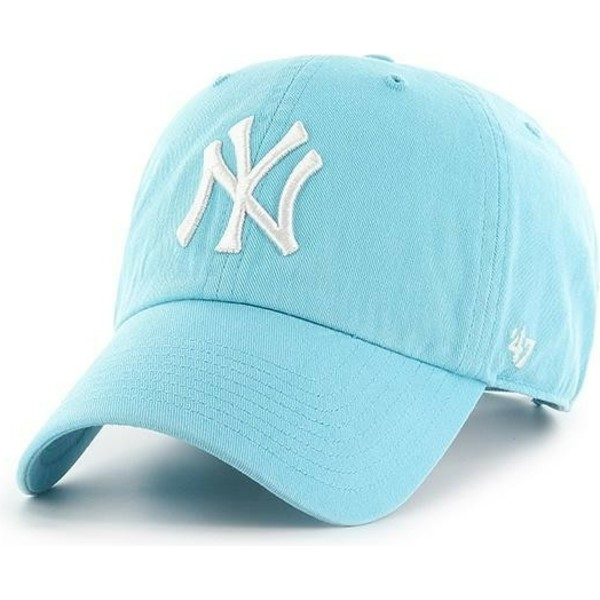 47-brand-curved-brim-new-york-yankees-mlb-clean-up-baby-blue-cap