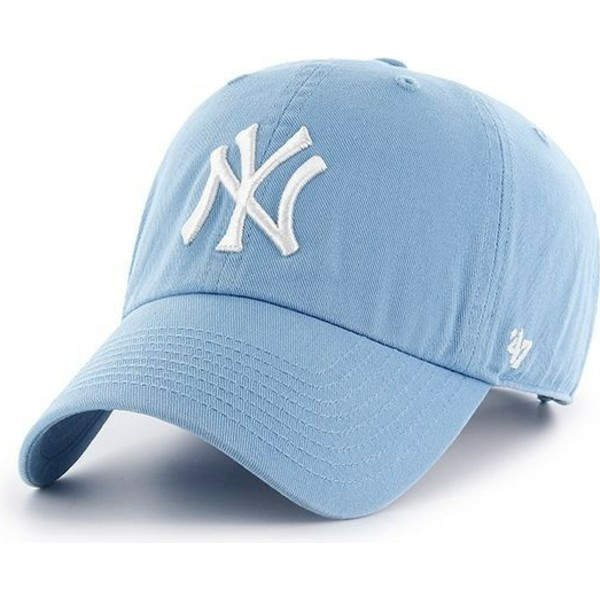 47-brand-curved-brim-new-york-yankees-mlb-clean-up-carolina-blue-cap