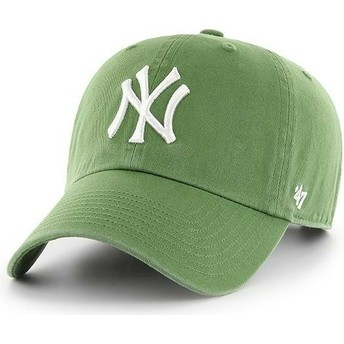 47 Brand Curved Brim New York Yankees MLB Clean Up Fern Green Cap