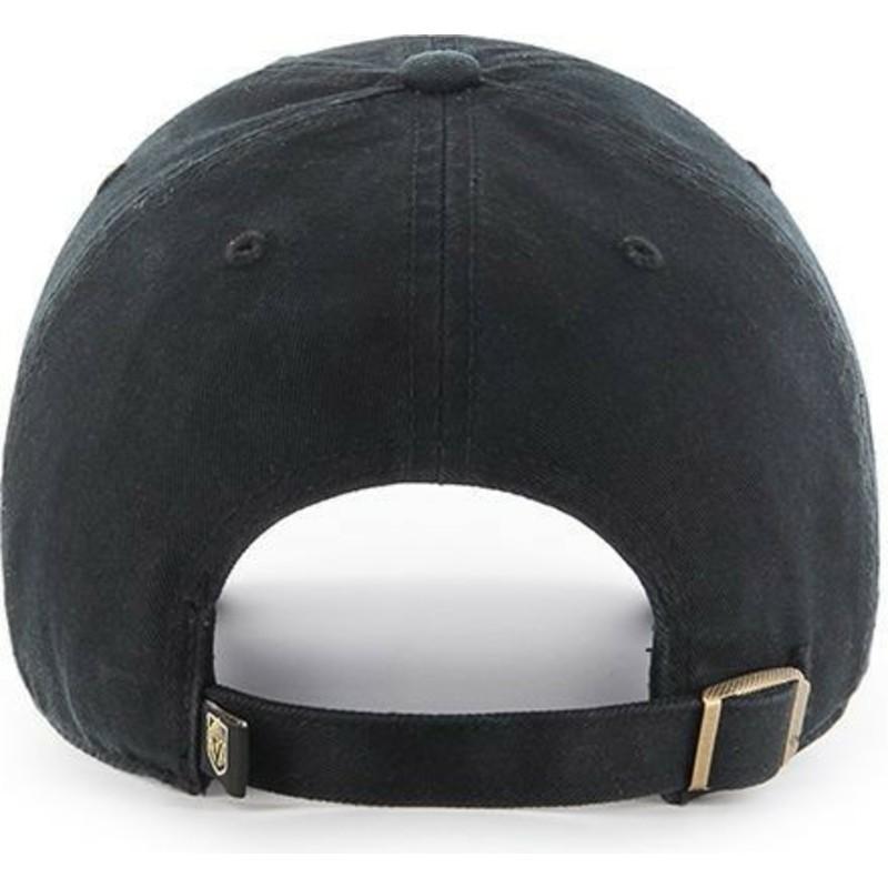 1747fd563 47 Brand Curved Brim Vegas Golden Knights NHL Clean Up Black Cap ...