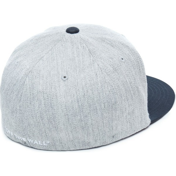 Vans Flat Brim Splitz Flexfit Grey Fitted Cap with Black Visor