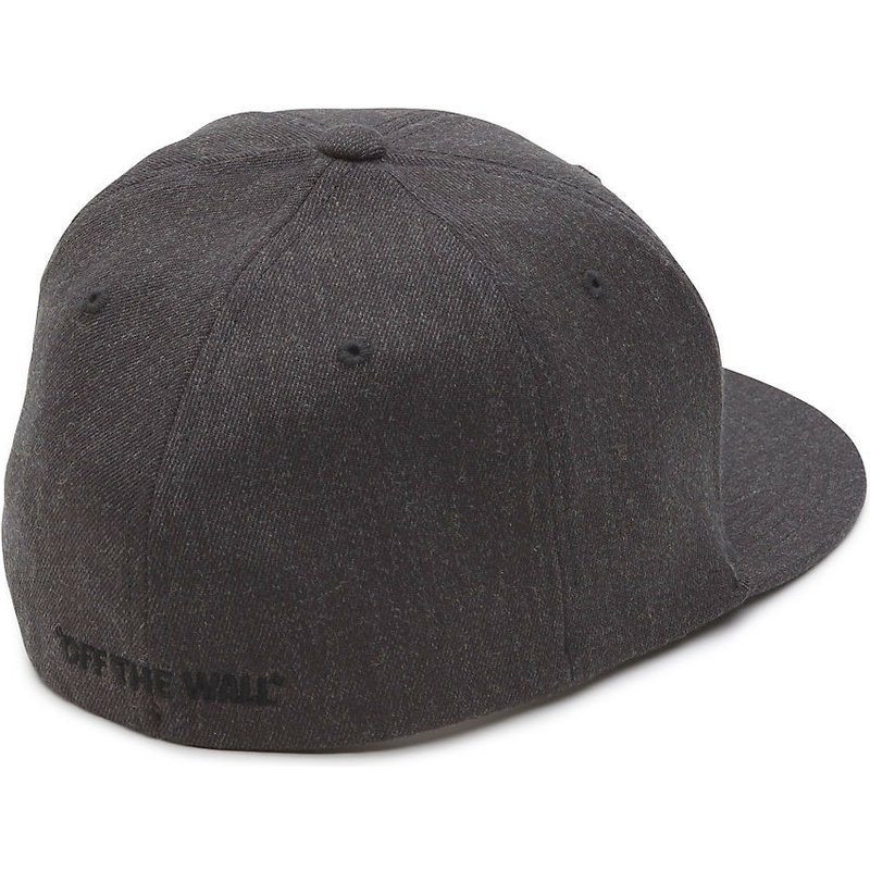 ca773ff7882 Vans Flat Brim Splitz Flexfit Dark Grey Fitted Cap  Shop Online at ...