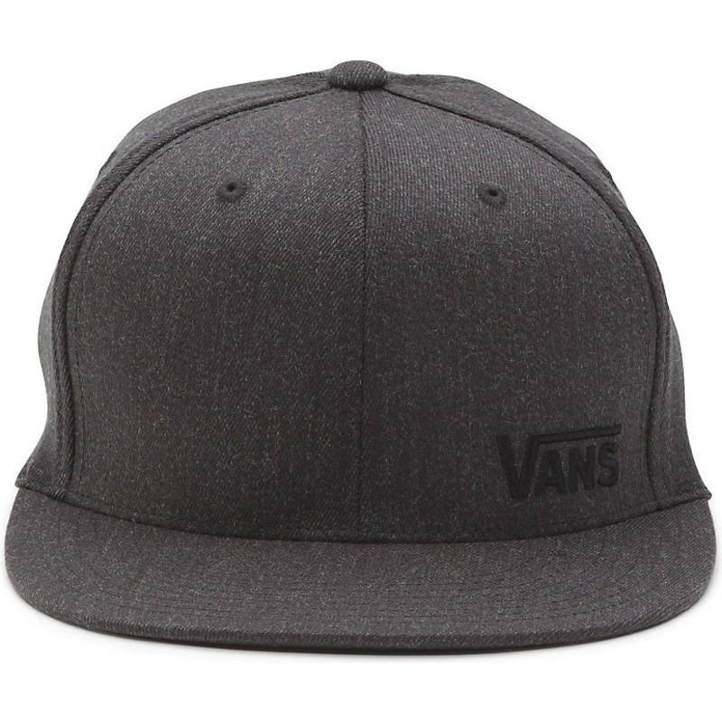 1552c18e3ebee Vans Flat Brim Splitz Flexfit Dark Grey Fitted Cap  Shop Online at ...