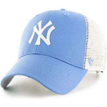 47 Brand New York Yankees MLB MVP Branson Light Blue Trucker Hat