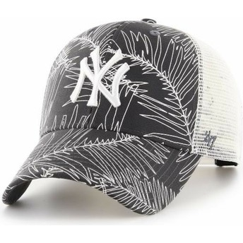 47 Brand New York Yankees MLB MVP Palma Black Trucker Hat