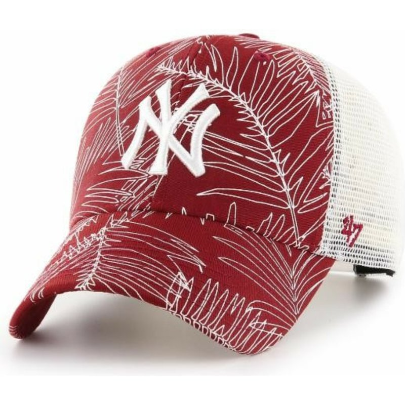 47 Brand New York Yankees MLB MVP Palma Red Trucker Hat  Shop Online ... f8a9ec4eeef