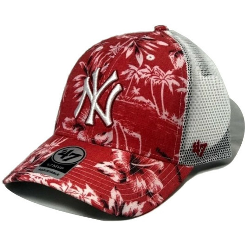 4d2188a0982d6 47 Brand New York Yankees MLB MVP South Coast Red Trucker Hat  Shop ...