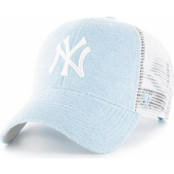 47 Brand New York Yankees MLB MVP Weatherbee Light Blue Trucker Hat